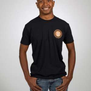 Black-Unisex-Logo-Tee-Frontview